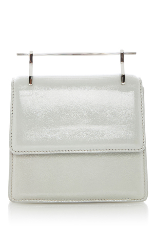 Patent Leather Mini Collectionneuse Galaxy Cool Grey by M2MALLETIER for Preorder on Moda Operandi