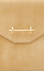 Envelope Sand Suede by M2MALLETIER for Preorder on Moda Operandi