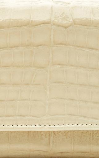 Cabiria Wallet Ivory Crocodile by M2MALLETIER for Preorder on Moda Operandi