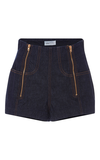 One Million Lovers Denim Shorts by ALICE MCCALL for Preorder on Moda Operandi
