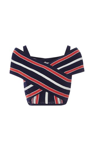 Medium alice mccall stripe i m a believer striped crop top