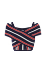 I'm A Believer Striped Crop Top by ALICE MCCALL for Preorder on Moda Operandi