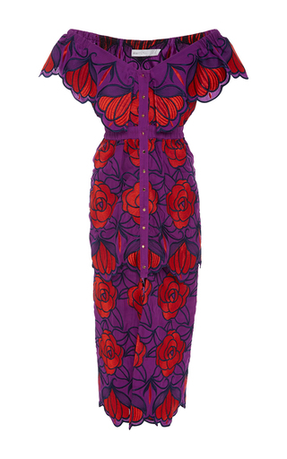 Medium alice mccall purple tutti frutti violet floral dress