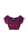 Let Your Love Flow Violet Crop Top by ALICE MCCALL for Preorder on Moda Operandi