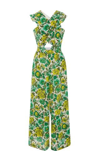 Medium alice mccall green wildhood cutout printed jumpsuit