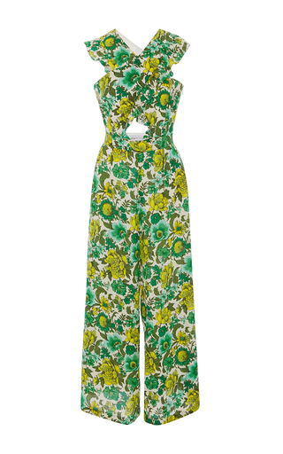 Medium alice mccall green wildhood cutout printed jumpsuit