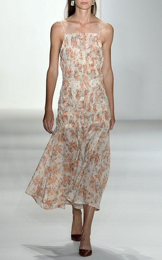 Delilah Floral Cotton Voile Dress by BROCK COLLECTION for Preorder on Moda Operandi