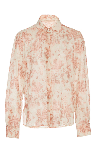 Medium brock floral baylee floral cotton voile blouse