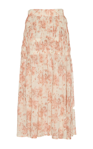 Sofia Floral Cotton Voile Skirt by BROCK COLLECTION for Preorder on Moda Operandi