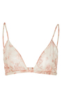 Triangle Floral Cotton Voile Bra by BROCK COLLECTION for Preorder on Moda Operandi
