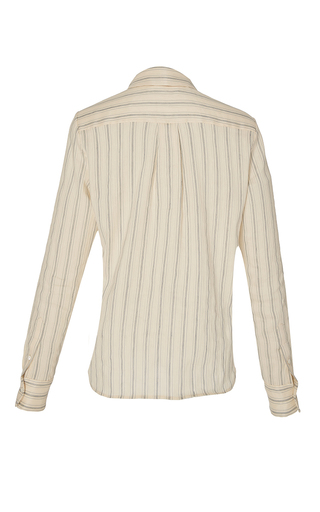 Baylee Linen Stripe Blouse by BROCK COLLECTION for Preorder on Moda Operandi