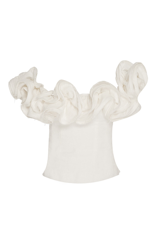 Theresa Off The Shoulder Linen Top by BROCK COLLECTION for Preorder on Moda Operandi