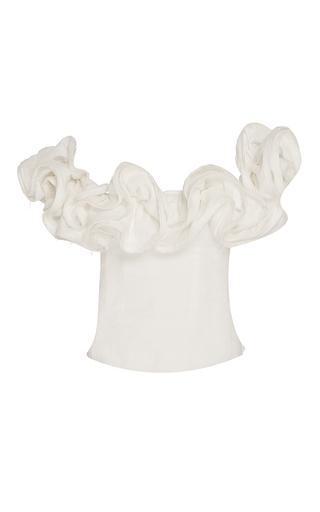 Medium brock off white theresa off the shoulder linen top