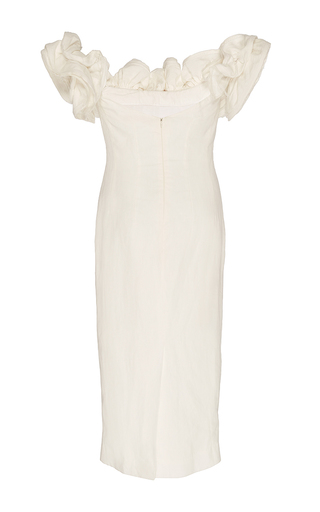 Desiree Off The Shoulder Linen Dress by BROCK COLLECTION for Preorder on Moda Operandi
