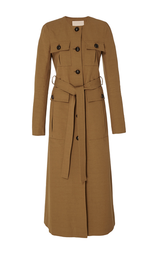 Medium brock tan cara cotton trench coat