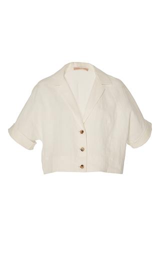 Medium brock off white tessa washed linen top