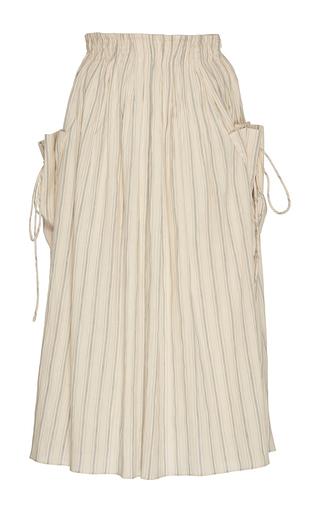 Stella Linen Stripe Skirt by BROCK COLLECTION for Preorder on Moda Operandi