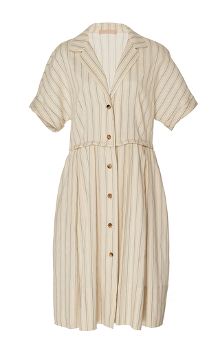 Medium brock stripe donna linen stripe shirt dress