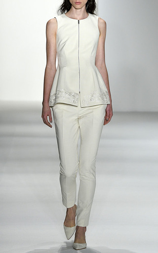 Paige Cotton Trench Cigarette Pant by BROCK COLLECTION for Preorder on Moda Operandi