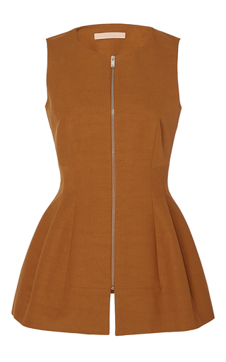 Medium brock tan tanya cotton trench zipper top