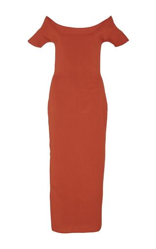 Medium brock red kate crepe viscose knit dress