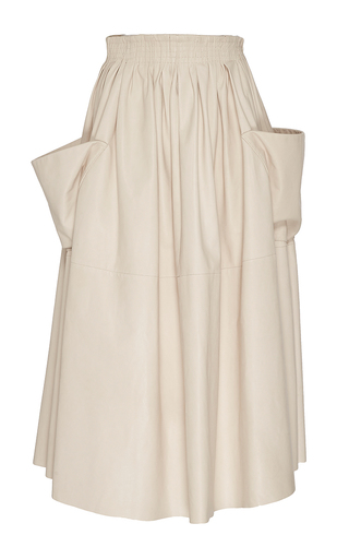 Medium brock off white stella paper leather skirt