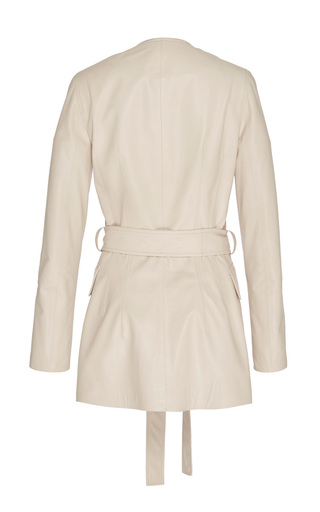 Jalene Paper Leather Jacket by BROCK COLLECTION for Preorder on Moda Operandi