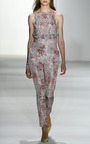 Tatiana Pleated Abstract Floral Top by BROCK COLLECTION for Preorder on Moda Operandi