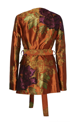 Jalene Floral Jacquard Coat by BROCK COLLECTION for Preorder on Moda Operandi