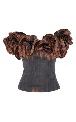 Theresa Off The Shoulder Fire Stripe Top by BROCK COLLECTION for Preorder on Moda Operandi