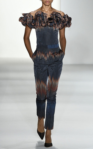 Paige Fire Stripe Cigarette Pant by BROCK COLLECTION for Preorder on Moda Operandi