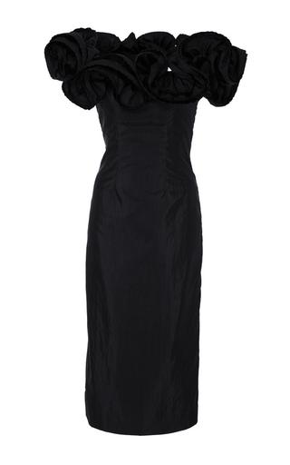 Medium brock black desiree off the shoulder lightweight taffeta dress