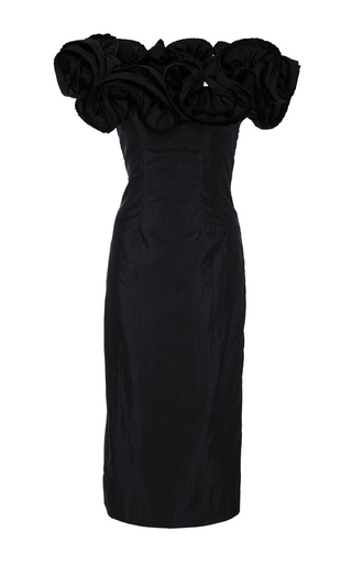 Medium brock black desiree off the shoulder lightweight taffeta dress