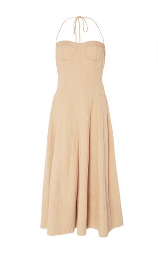 Medium ulla johnson tan paula bustier dress