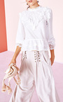 Noemie High Neck Lace Blouse by ULLA JOHNSON for Preorder on Moda Operandi
