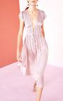Kaiya Pleated Plunge Dress by ULLA JOHNSON for Preorder on Moda Operandi