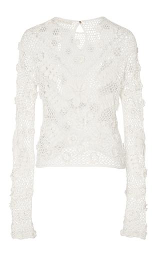 Lilia Crochet Top by ULLA JOHNSON for Preorder on Moda Operandi
