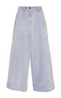 Giada Wide Leg Striped Trousers by ULLA JOHNSON for Preorder on Moda Operandi