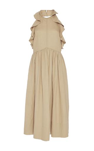 Medium ulla johnson tan cecily ruffle dress