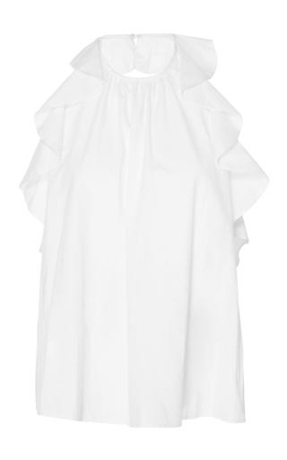 Medium ulla johnson white mariana ruffle blouse