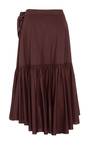 Camila Ruffle Wrap Skirt by ULLA JOHNSON for Preorder on Moda Operandi