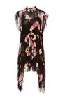 Luisa Asymmetric Floral Dress by ULLA JOHNSON for Preorder on Moda Operandi
