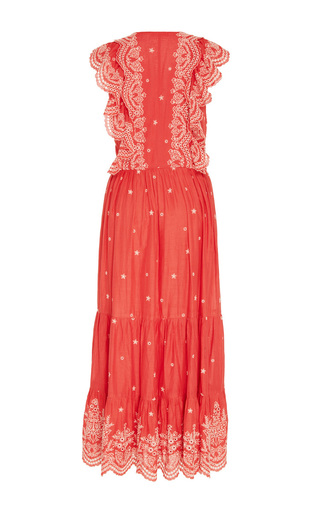 Vera Lace Up Embroidered Dress by ULLA JOHNSON for Preorder on Moda Operandi