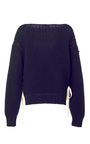 Elliot Lace Up Knit Pullover by ULLA JOHNSON for Preorder on Moda Operandi