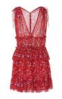 Noelle Printed Mini Dress by ULLA JOHNSON for Preorder on Moda Operandi