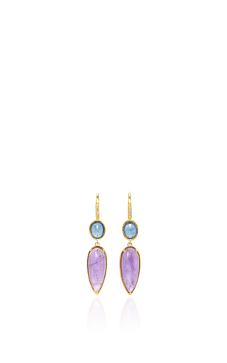 Medium ila collection blue valencia earrings