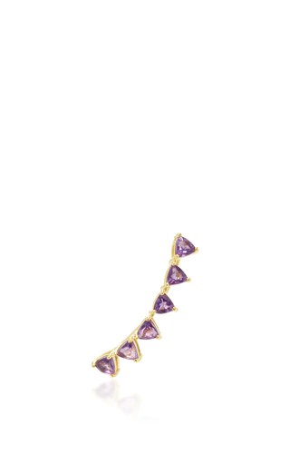 Medium ila collection purple samara ear climber