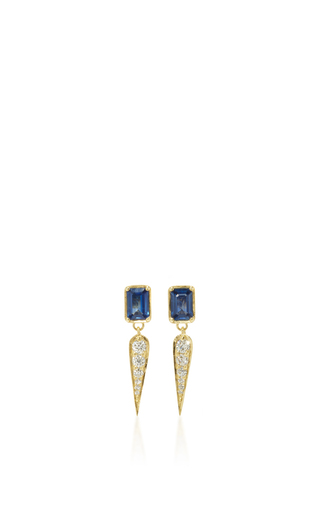 Medium ila collection blue claude in blue earrings
