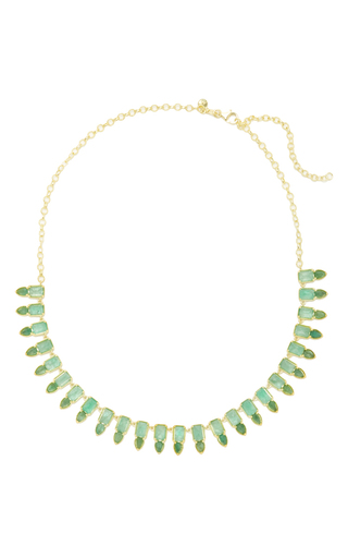 Medium ila collection green aspen necklace