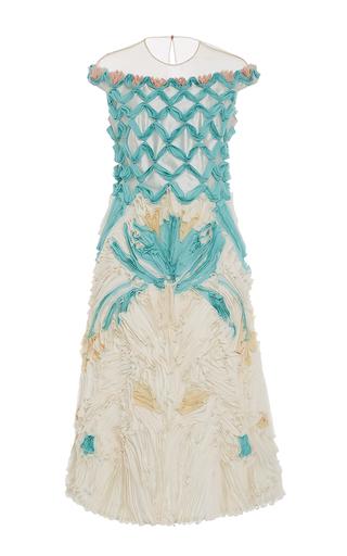 Embroidered Chiffon Flower Dress   by ALENA AKHMADULLINA for Preorder on Moda Operandi